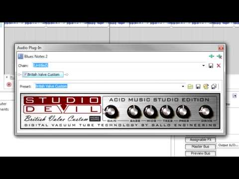 New for ACID Music Studio 8: Studio Devil™ British Valve Custom guitar amp