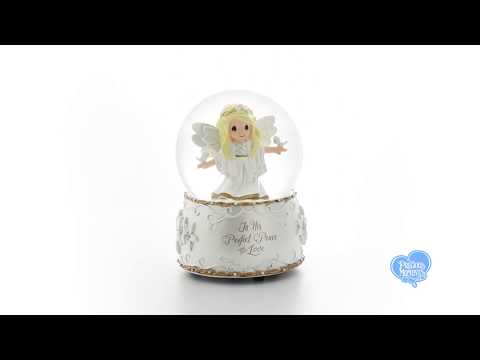 """""""In His Perfect Peace And Love"""", Seventh in Annual Angel Series, Resin/Glass Musical Snow Globe"""