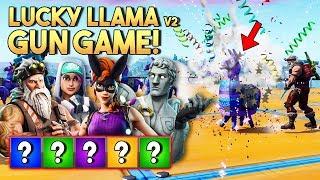 LUCKY LLAMA GUN GAME v2! - Fortnite Creative met Joost, Eva & Jacco (Nederlands)