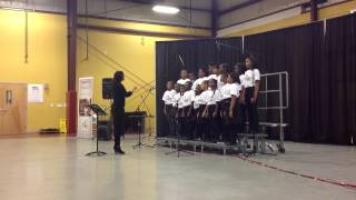 AMPlify's R. Nathaniel Dett Concert Choir sings Swingle Bells