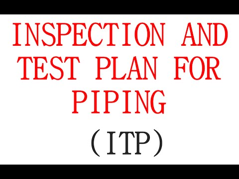 INSPECTION AND TEST PLAN FOR ABOVE GROUND PIPING -ITP FOR PIPING)
