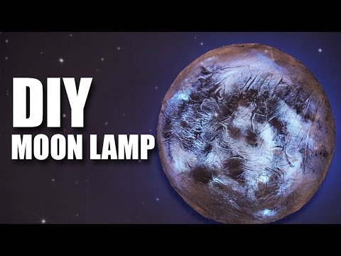 How to make a DIY Moon Lamp | Room Decor Ideas