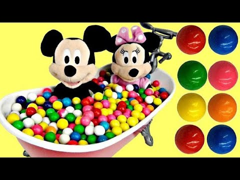 Minnie & Mickey Mouse Bath Tub Fun Time Pretend Play Time