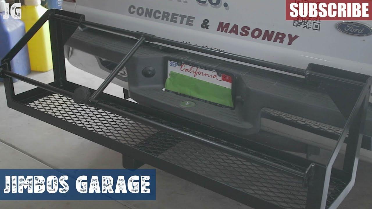 Trailer Hitch Gas Can Rack - Jimbos Garage - YouTube