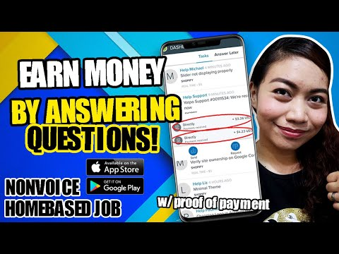 EARN $1 PER 3-5 MINUTES BY ANSWERING QUESTIONS You Can Google Them NONVOICE HOMEBASED JOB   Directly