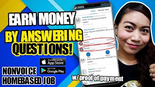 EARN 1 PER 35 MINUTES BY ANSWERING QUESTIONS You Can Google them NONVOICE HOMEBASED JOB  Directly