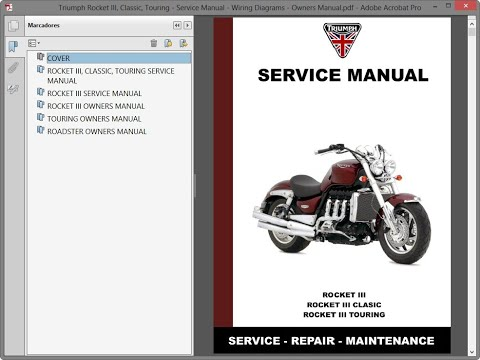 Triumph Rocket III, Classic, Touring - Service Manual - Wiring Diagrams -  Owners Manual - YouTubeYouTube