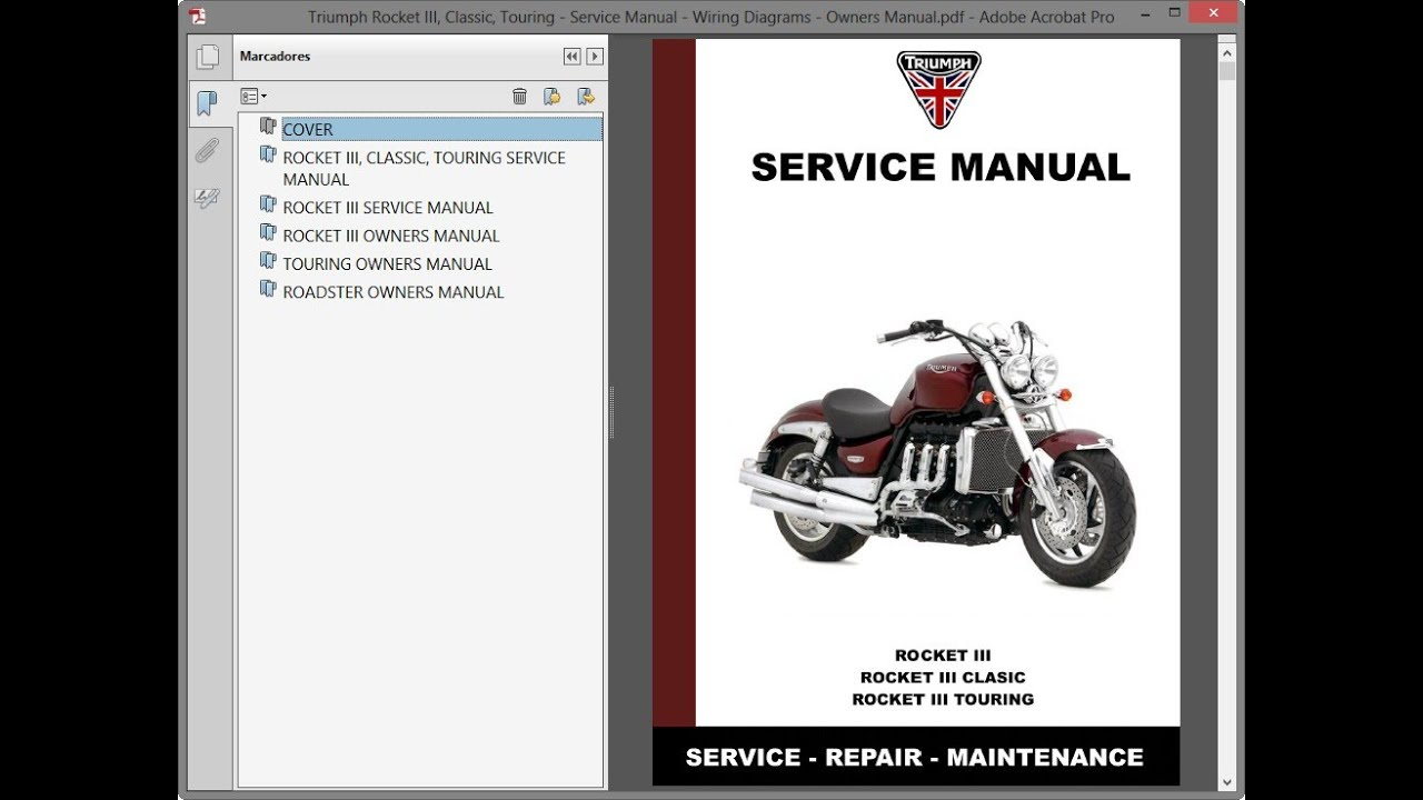 Triumph Rocket Iii Classic Touring Service Manual Wiring Diagrams Owners Manual Youtube