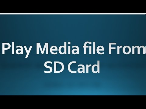 Android Tutorial For Beginners 131 - Play Media File From SD Card.
