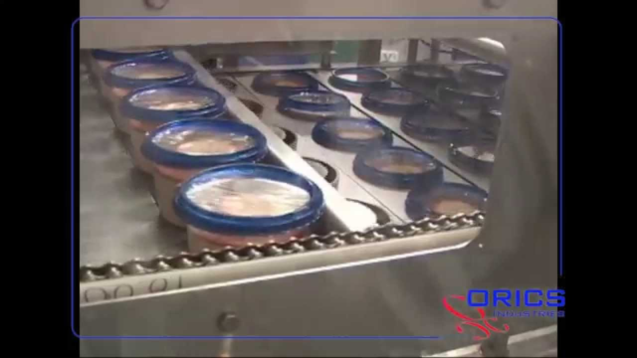 ff996e2a0ad ORICS S-50 Vacuum Gas Flush 1x6 Hummus cups filling and sealing machine  Packaging System 120 - YouTube