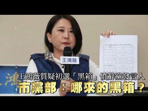 王鴻薇質疑初選「黑箱」憤辭黨發言人 市黨部:哪來的黑箱? | 台灣蘋果日報