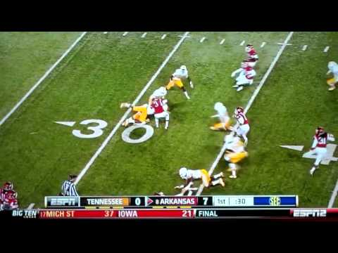 Most amazing touchdown   Tennessee vs  Arkansas score by Joe Adams