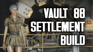 "Vault 88 ""Lived-In"" Settlement Build - A Tour of My Vault"
