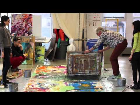 Columbia Univeristy Abstract Painting Class - Spring 2016