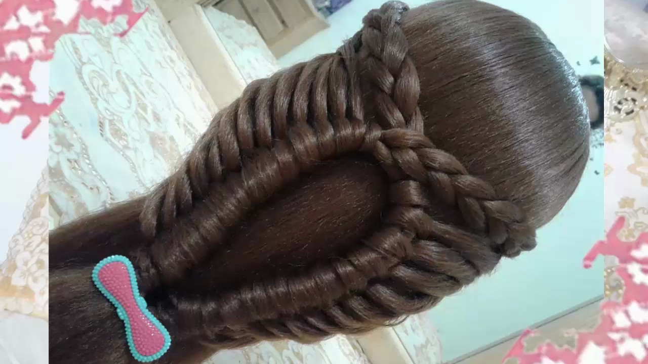Peinados recogidos para cabello largo para ninas