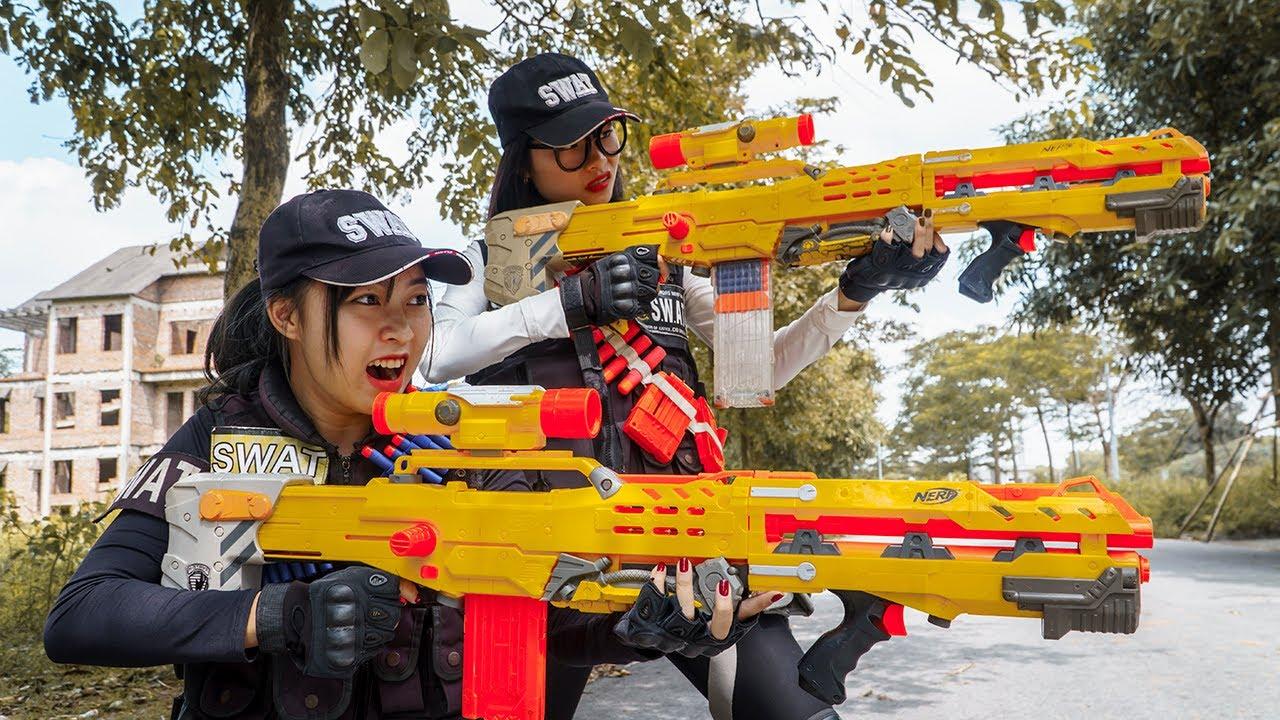 Nerf Guns War : Couple S.W.A.T Of SEAL TEAM  Battle Furious  Boss XX Dangerous Criminal Group