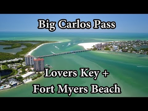 Big Carlos Pass {4K Drone} Fort Myers Beach And Lovers Key Florida