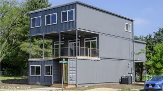 Gorgeous Home Built With 9 Shipping Containers In St. Louis