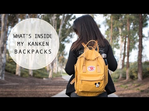 What's in My Kanken Backpacks: Fjallraven Kanken