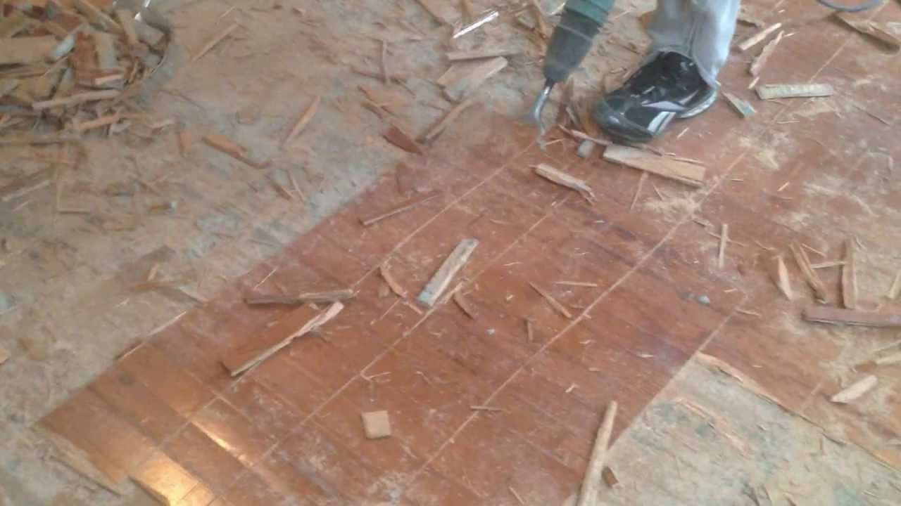 How To Remove Glue Down Engineered Hardwood Youtube
