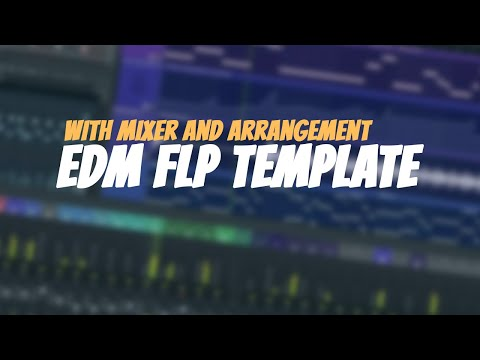 EDM Project Starting Template with Track Arrangement