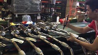 ATV exhaust muffler / Stainless steel exhaust muffler manufacturing process