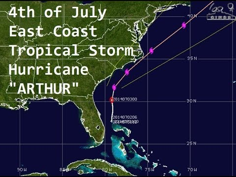 "7/03/2014 -- Hurricane ""Arthur"" -- Category 1 -- 4th of July East Coast Storm"