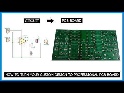 How to turn your custom design to Professional PCB Board ft