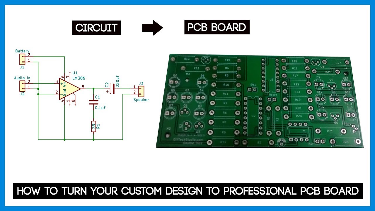 How to turn your custom design to Professional PCB Board ft JLCPCB com | My  Approach