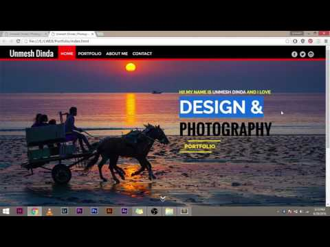 Making A Homepage In HTML/CSS  Explained [IN HINDI] Part 2: Adding Content (Full Width)