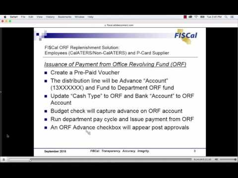 September 2, 2016 Office Revolving Fund Presentation