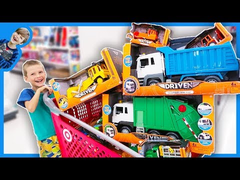 Toy Construction Trucks SHOPPING SPREE!!!
