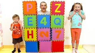 Лиза и Миша и их игры с папой