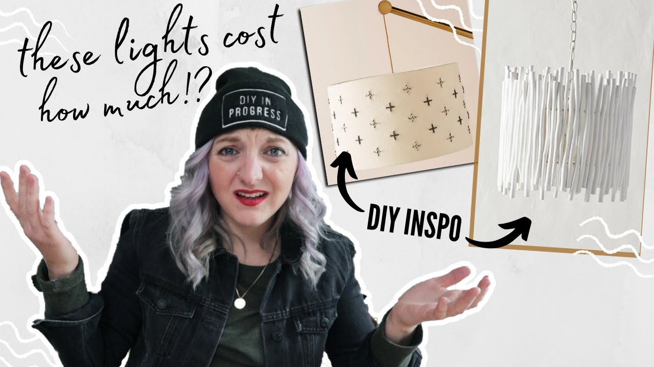 i dupe two pricey Anthropologie lights for half the cost! | Can I Make It For Cheaper?! | EP 2