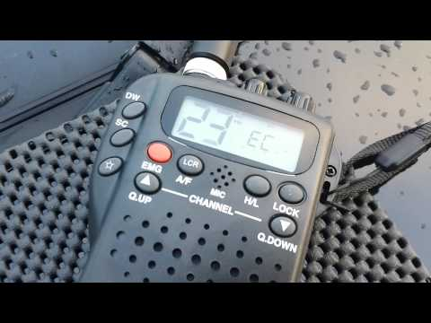 Scanning UK & EC CB radio channels on Midland Alan 42 Multi