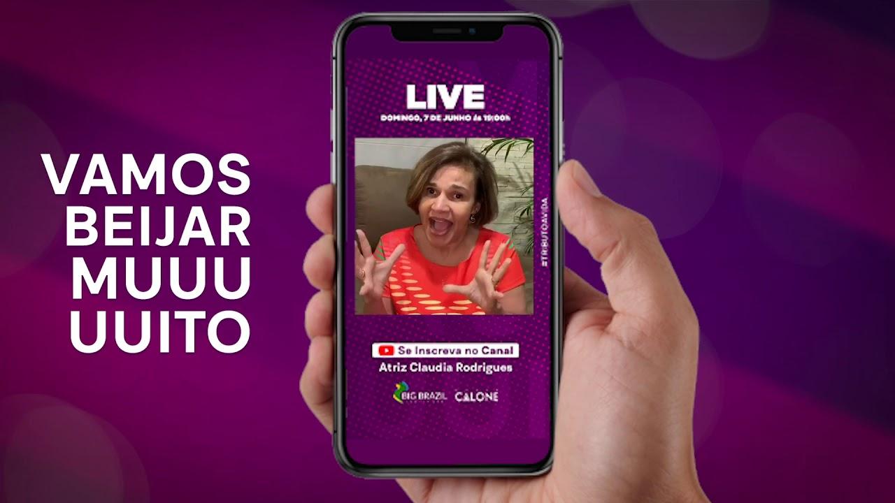 Chamada da Live Claudia Rodrigues