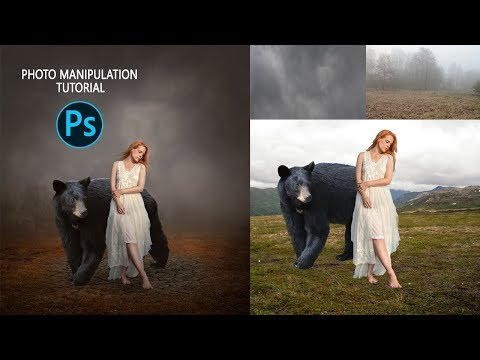 The Bear and Girl Photo Manipulation/ Photoshop Tutorial thumbnail
