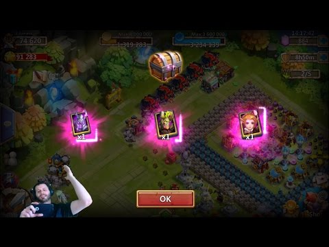Death Knight Candy Kane & Treantaur ALWAYS Show UP Castle Clash
