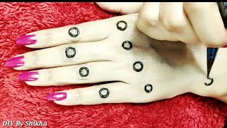 Latest dotted mehendi trick design tutorial / Best stylish floral henna application video