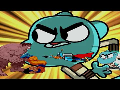 CAT DUCK TEAM UP | FUNNY GUMBALL AND HILARIOUS DUCK DODGERS VS MUGEN CHARACTERS