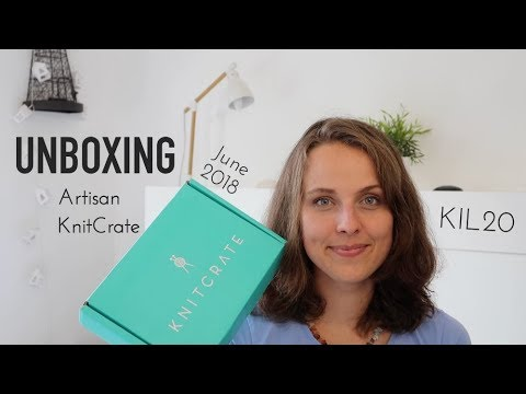Unboxing Artisan Knitcrate June 2018 Knitting Ilove Youtube