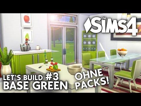 Die Sims 4 Haus bauen ohne Packs | Base Green #3: Küche & Bad (deutsch)