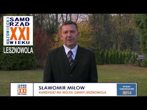 Sławomir Miłow - kandydat na Wójta Gminy Lesznowola