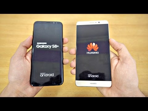 Samsung Galaxy S8 Plus vs Huawei Mate 9 - Speed Test! (4K)