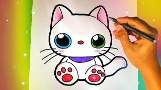 Как нарисовать милого КОТИКА? Лёгкие рисунки для детей и начинающих №373