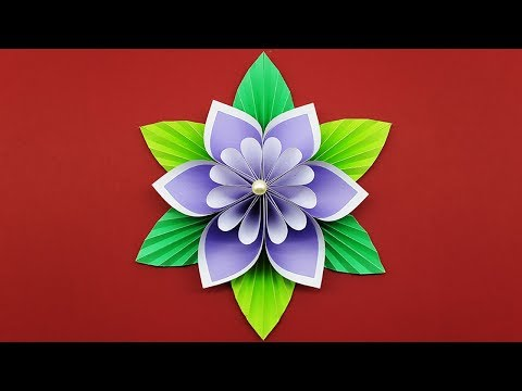 How to make Paper Flower easy (DIY Flowers Making Tutorial) - Paper Craft Ideas