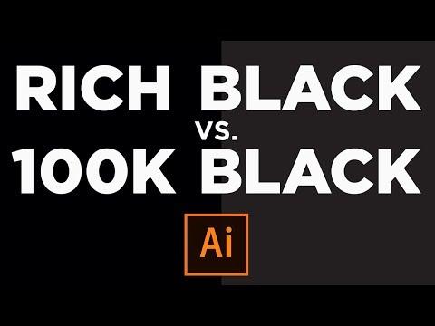 Rich Black vs 100K Black - How to Print Good Black CMYK - Adobe Illustrator CC