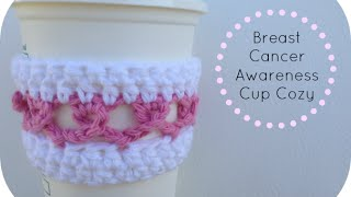 Breast Cancer Awareness Ribbon Cup Cozy Mp3