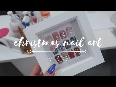 CHRISTMAS NAIL ART DAY | VLOG | Jojo Wickens
