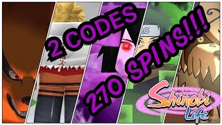 Shinobi Life | 2 Codes over *270 SPINS* | Roblox